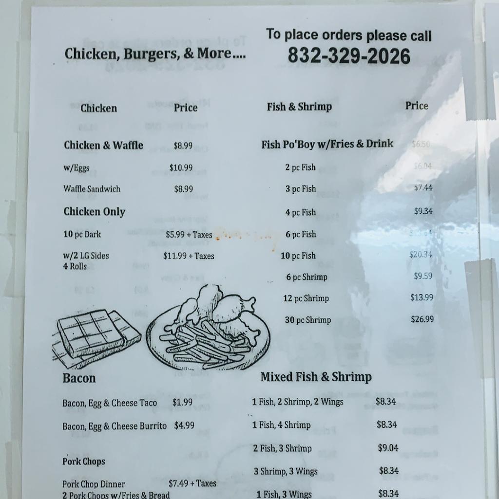 Chicken, Burgers, & More | restaurant | 9222 Ashville Dr, Houston, TX 77051, USA | 8323292026 OR +1 832-329-2026