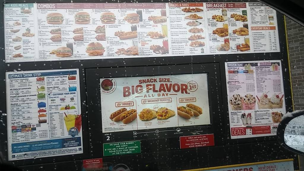 Sonic Drive-In   restaurant   1299 Torrence Ave, Calumet City, IL 60409, USA   7088622894 OR +1 708-862-2894