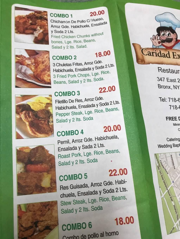 Caridad Express | restaurant | 347 E 204th St, Bronx, NY 10467, USA | 7186538331 OR +1 718-653-8331