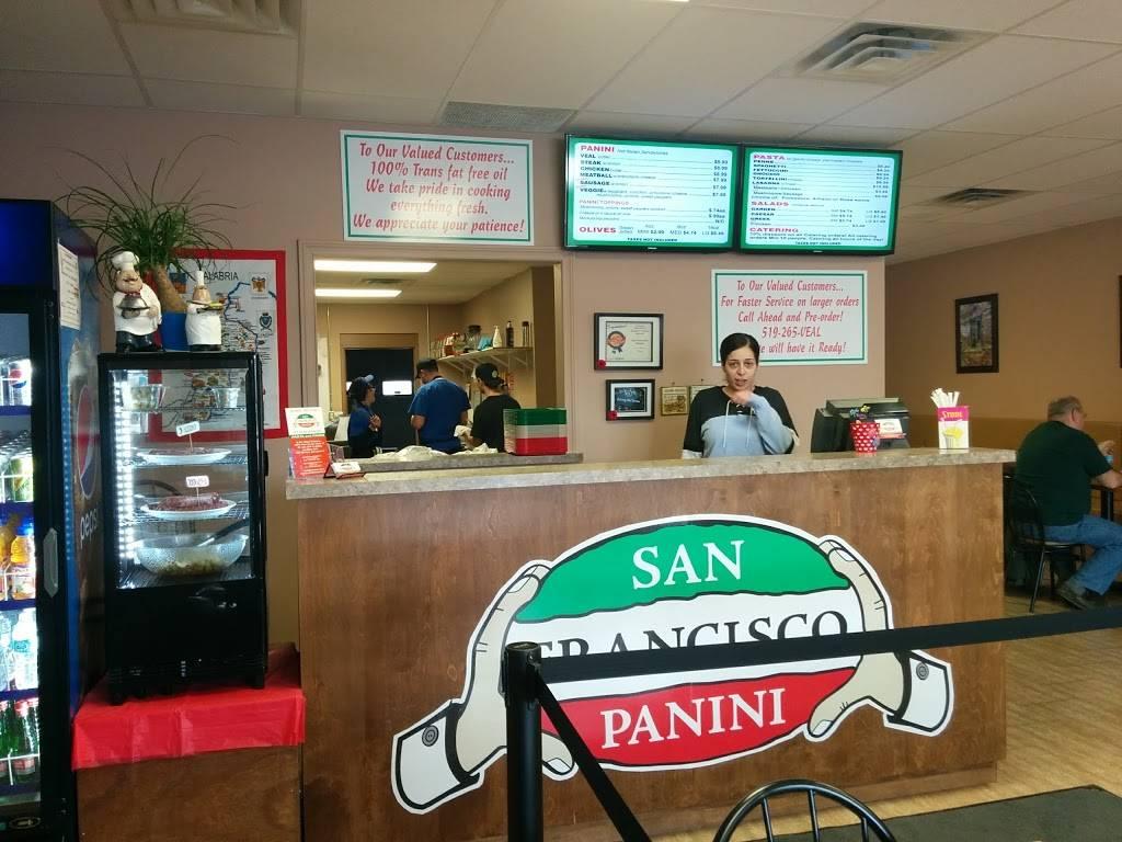 San Francisco Panini | meal takeaway | 485 Silvercreek Pkwy N #12, Guelph, ON N1H 7K5, Canada | 5192658325 OR +1 519-265-8325