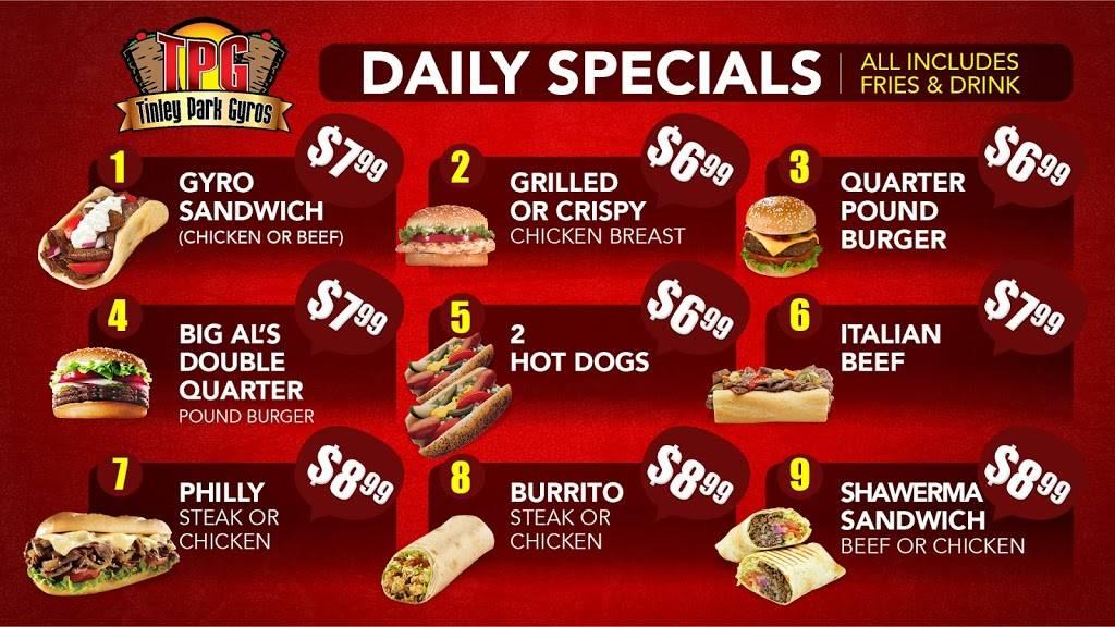 Tinley Gyros | restaurant | 7931 171st St, Tinley Park, IL 60477, USA | 7084297626 OR +1 708-429-7626