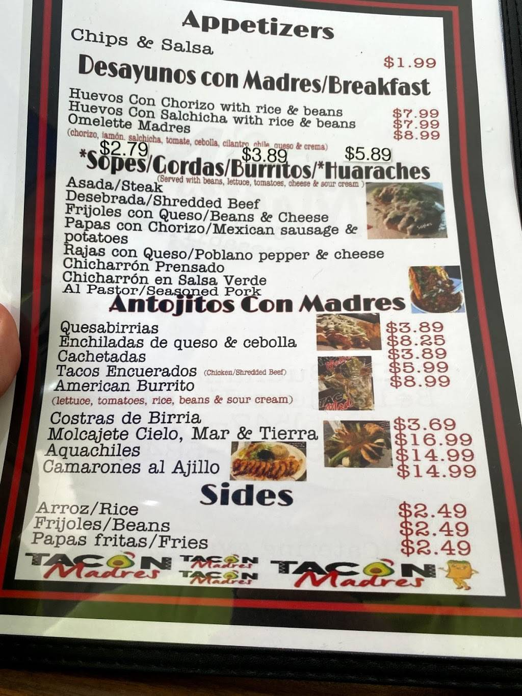 Tacon madres | restaurant | 116 Buchanan St, Belvidere, IL 61008, USA | 8153785381 OR +1 815-378-5381