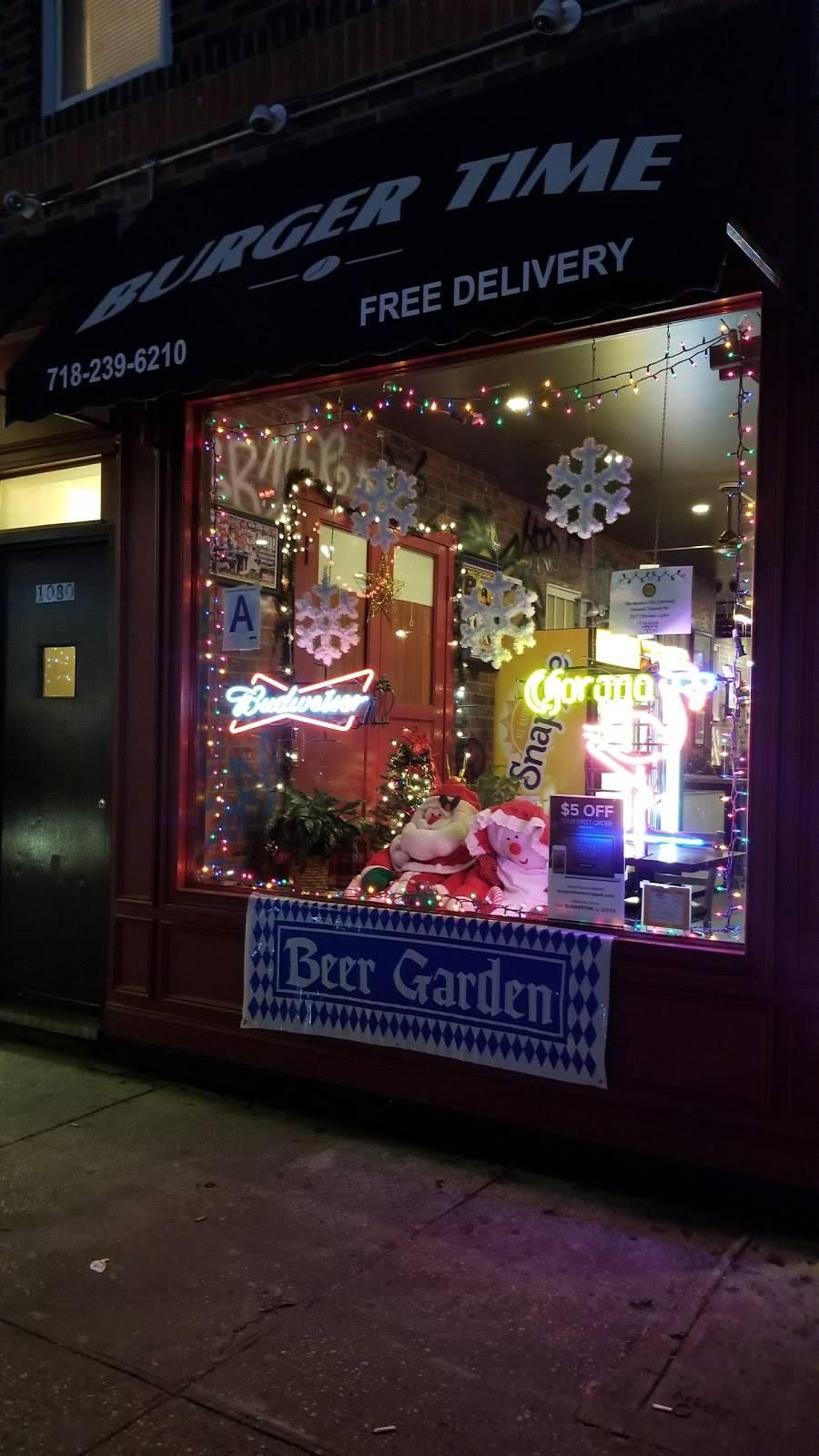 Burger Time | restaurant | 1080 Morris Park Ave, Bronx, NY 10461, USA | 7182396210 OR +1 718-239-6210