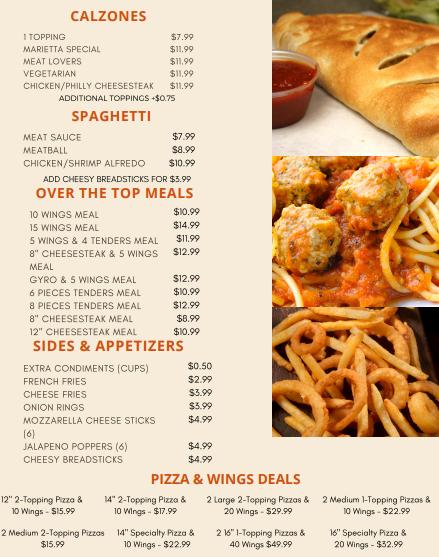 Marietta Pizzeria N More | restaurant | 1482 Roswell Rd, Marietta, GA 30062, USA | 7706724447 OR +1 770-672-4447