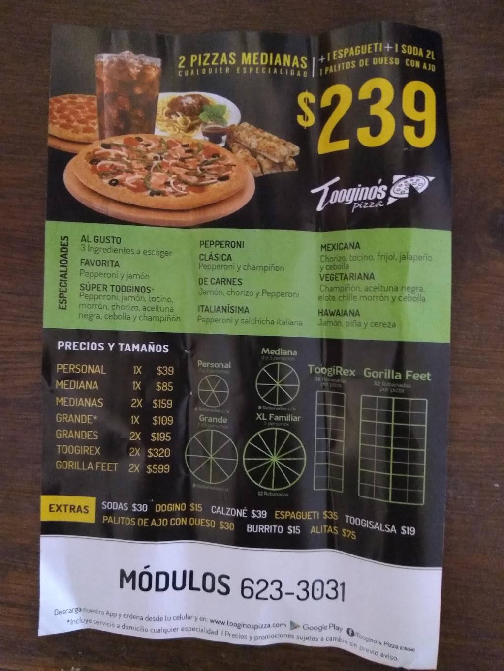 Tooginos Pizza Otay | meal delivery | 1, Blvd. Industrial 17, Nueva Tijuana, 22660 Tijuana, B.C., Mexico | 016646233031 OR +52 664 623 3031