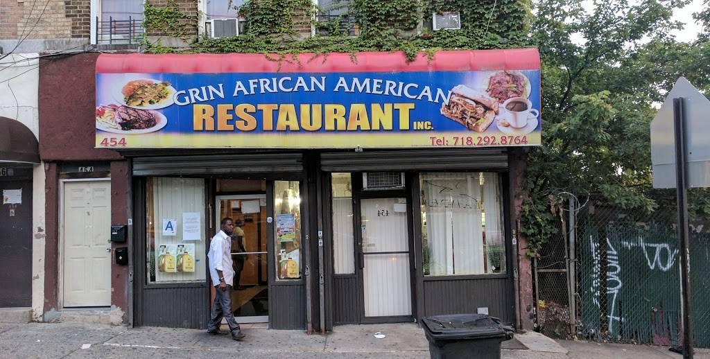Grin | restaurant | 454 E 168th St, Bronx, NY 10456, USA | 7182928764 OR +1 718-292-8764