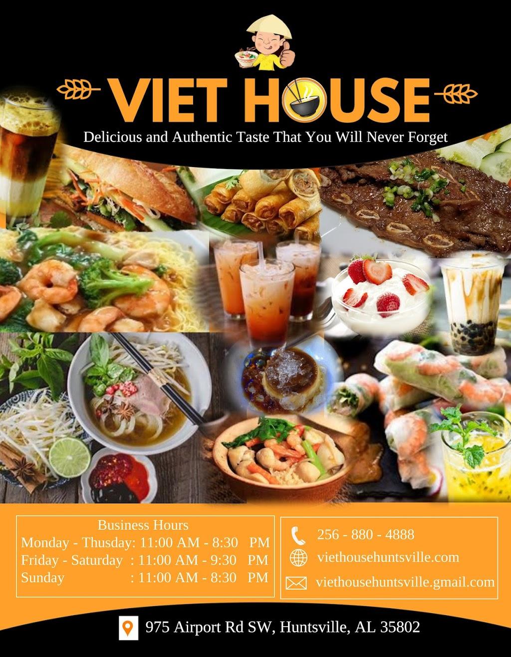 Viet House Restaurant   restaurant   975 Airport Rd SW Suite B2, Huntsville, AL 35802, USA   2568804888 OR +1 256-880-4888