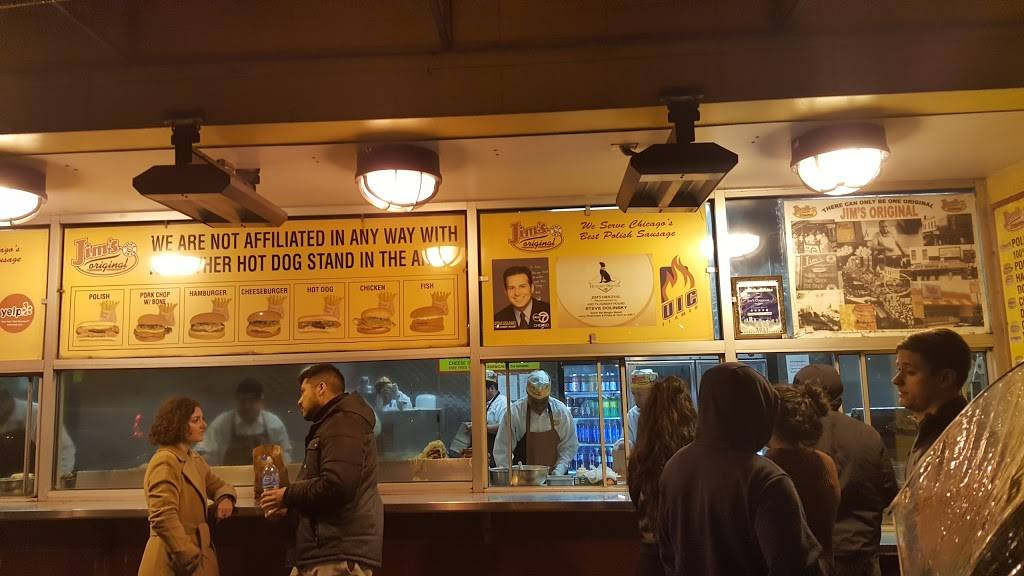 Jims Original | meal takeaway | 1250 S Union Ave, Chicago, IL 60607, USA | 3127337820 OR +1 312-733-7820