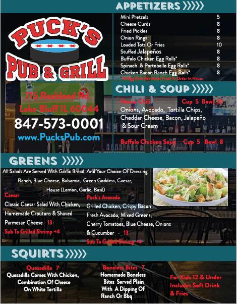 Pucks Pub | restaurant | 715 Rockland Rd, Lake Bluff, IL 60044, USA | 8475730001 OR +1 847-573-0001