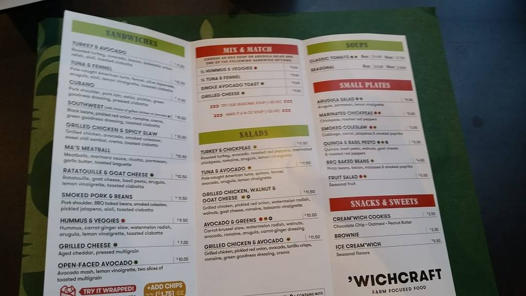 Wichcraft - Tribeca   meal delivery   397 Greenwich St, New York, NY 10013, USA   2127800577 OR +1 212-780-0577