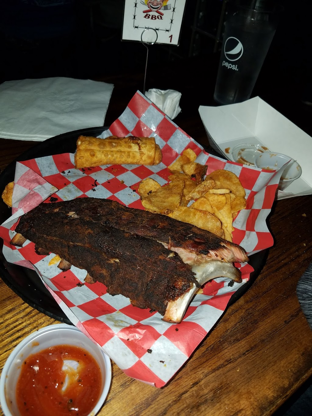 Big Mouth BBQ & Burgers | restaurant | Inside Bottoms Up on 7th, 1814 7th St, Moline, IL 61265, USA