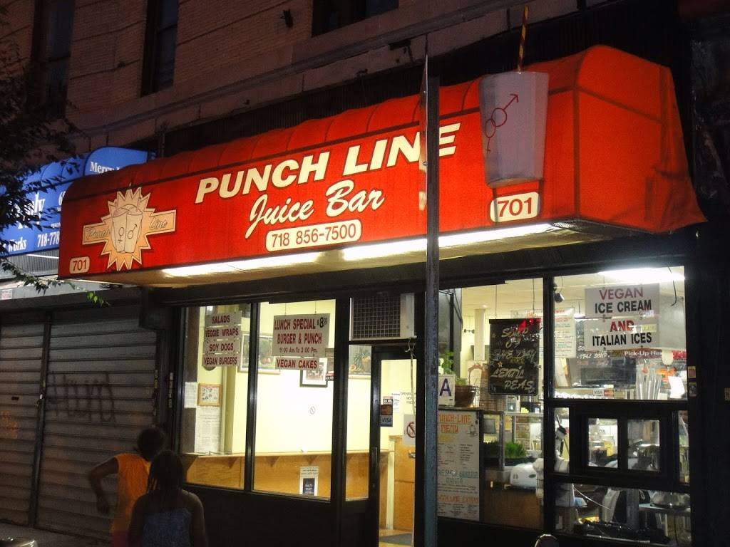 Punchline juice bar | restaurant | 701 Nostrand Ave, Brooklyn, NY 11225, USA | 7188567500 OR +1 718-856-7500