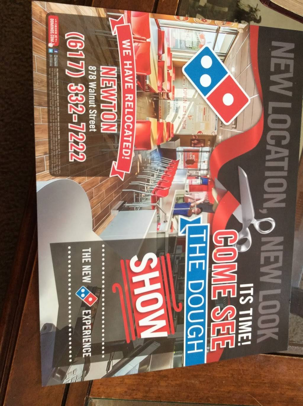 Dominos Pizza | meal delivery | 880 Walnut St, Newton, MA 02459, USA | 6173327222 OR +1 617-332-7222