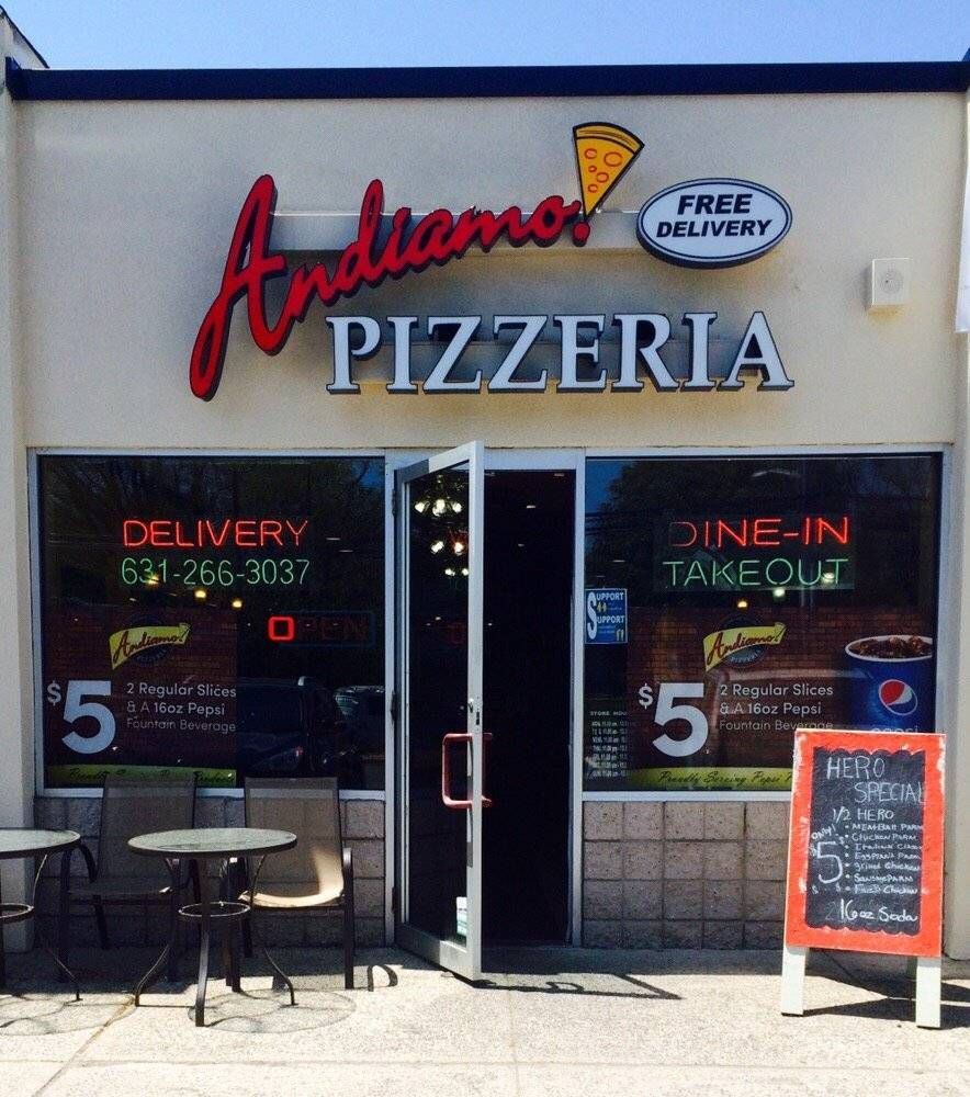 Andiamo Pizzeria   meal delivery   400 Larkfield Rd, East Northport, NY 11731, USA   6312663037 OR +1 631-266-3037