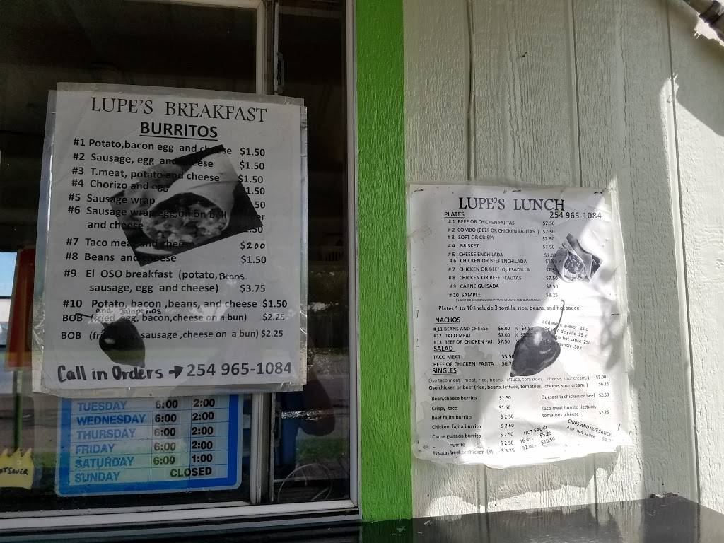 Lupes Breakfast   restaurant   1481 1/2 W South Loop, Stephenville, TX 76401, USA   2549651084 OR +1 254-965-1084