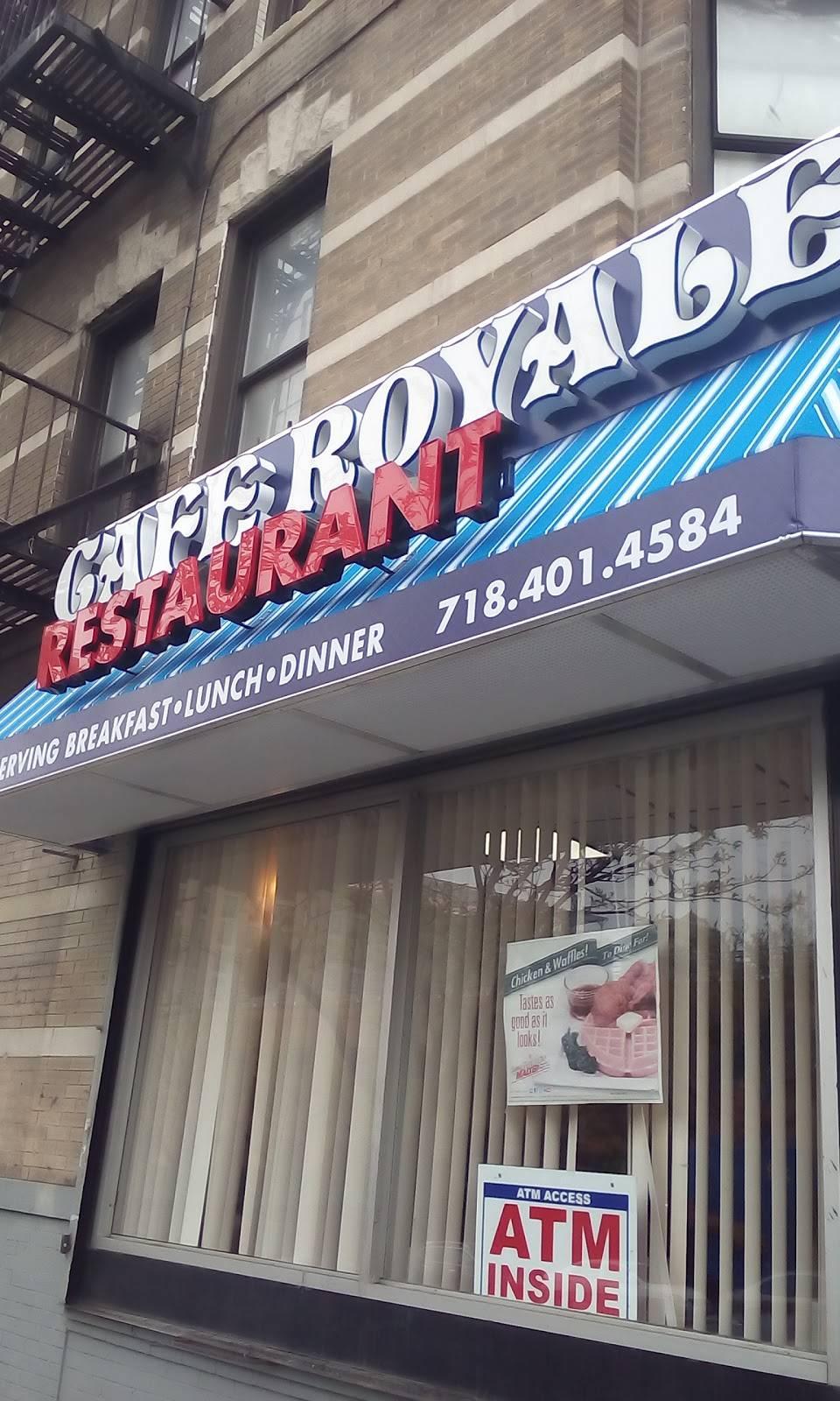 Cafe Royale | restaurant | 135 E 149th St, Bronx, NY 10451, USA | 7184014684 OR +1 718-401-4684