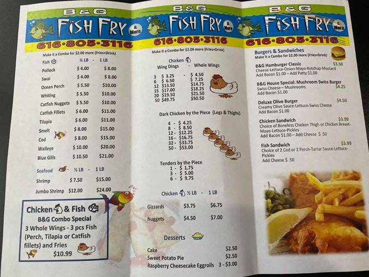 B & G Fish Fry   restaurant   1269 Madison Ave SE, Grand Rapids, MI 49507, USA   6168053116 OR +1 616-805-3116