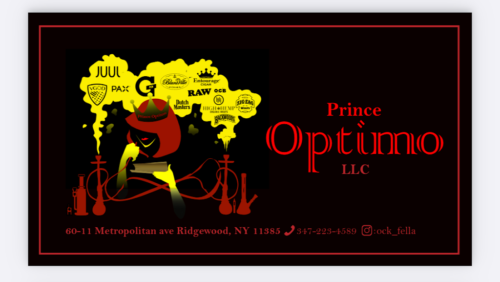 Prince Optimo LLC | meal takeaway | 60-11 Metropolitan Ave, Ridgewood, NY 11385, USA | 3472234589 OR +1 347-223-4589