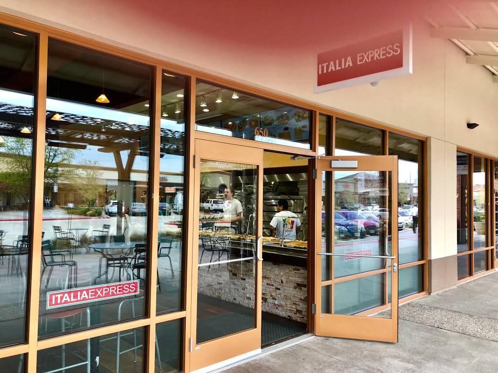 Italia Express   restaurant   820 W Stacy Rd #650, Allen, TX 75013, USA   9726782323 OR +1 972-678-2323