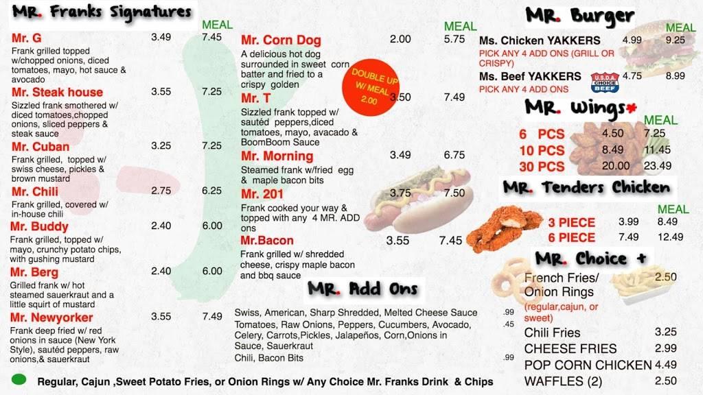 Mr. Franks | restaurant | 1217 Teaneck Rd Ste 106, Teaneck, NJ 07666, USA | 2015307666 OR +1 201-530-7666