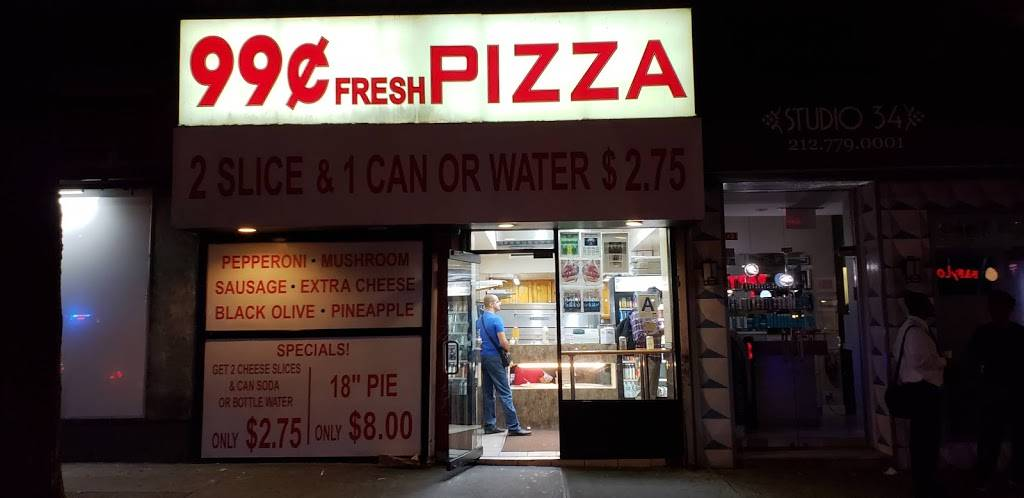 99 Cents Fresh Pizza | restaurant | 201 E 34th St B, New York, NY 10016, USA | 2128898858 OR +1 212-889-8858
