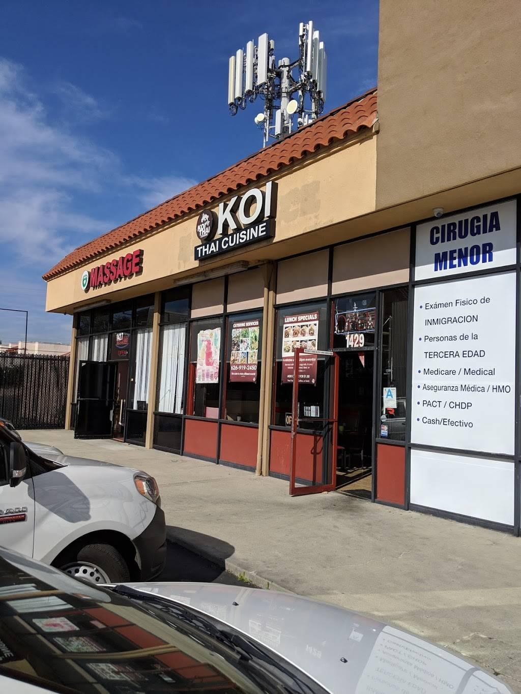 Koi Thai Cuisine   restaurant   1133, 1429 N Hacienda Blvd, La Puente, CA 91744, USA   6269192450 OR +1 626-919-2450