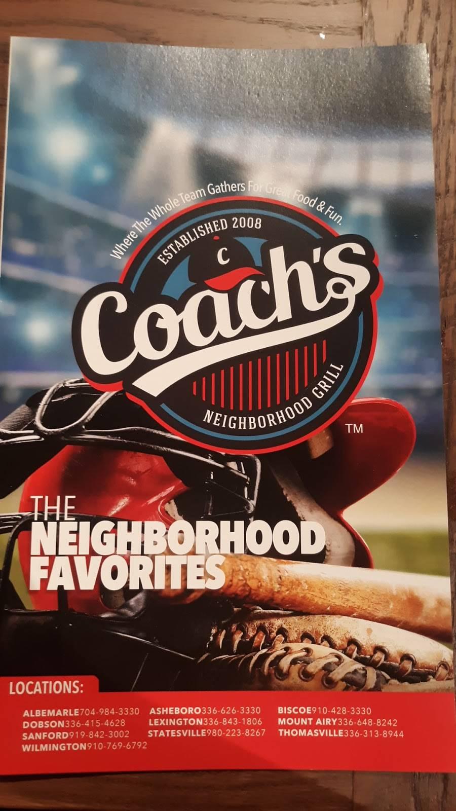 Coachs Neighborhood Grill | restaurant | 293 Commonwealth Blvd W, Martinsville, VA 24112, USA