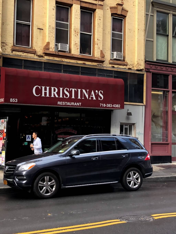 Christinas   restaurant   853 Manhattan Ave, Brooklyn, NY 11222, USA   7183834382 OR +1 718-383-4382