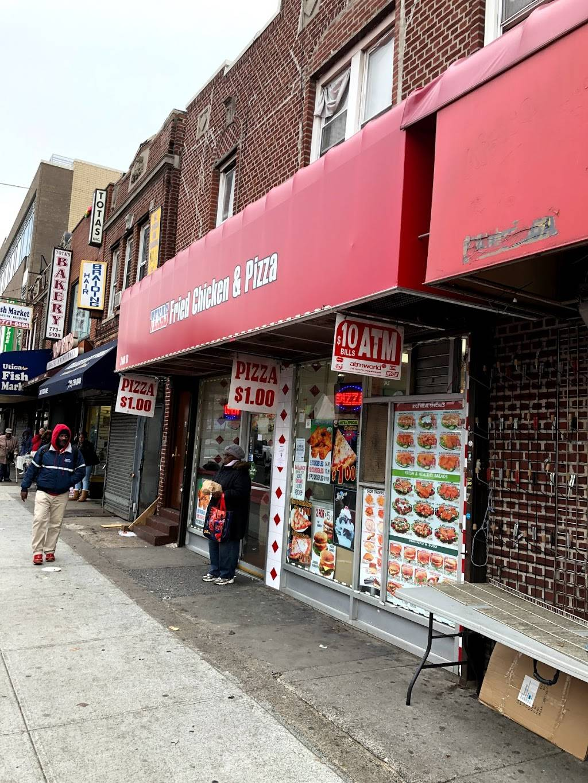 Texas Fried Chicken & Pizza | restaurant | 240 Utica Ave, Brooklyn, NY 11213, USA | 7186765004 OR +1 718-676-5004