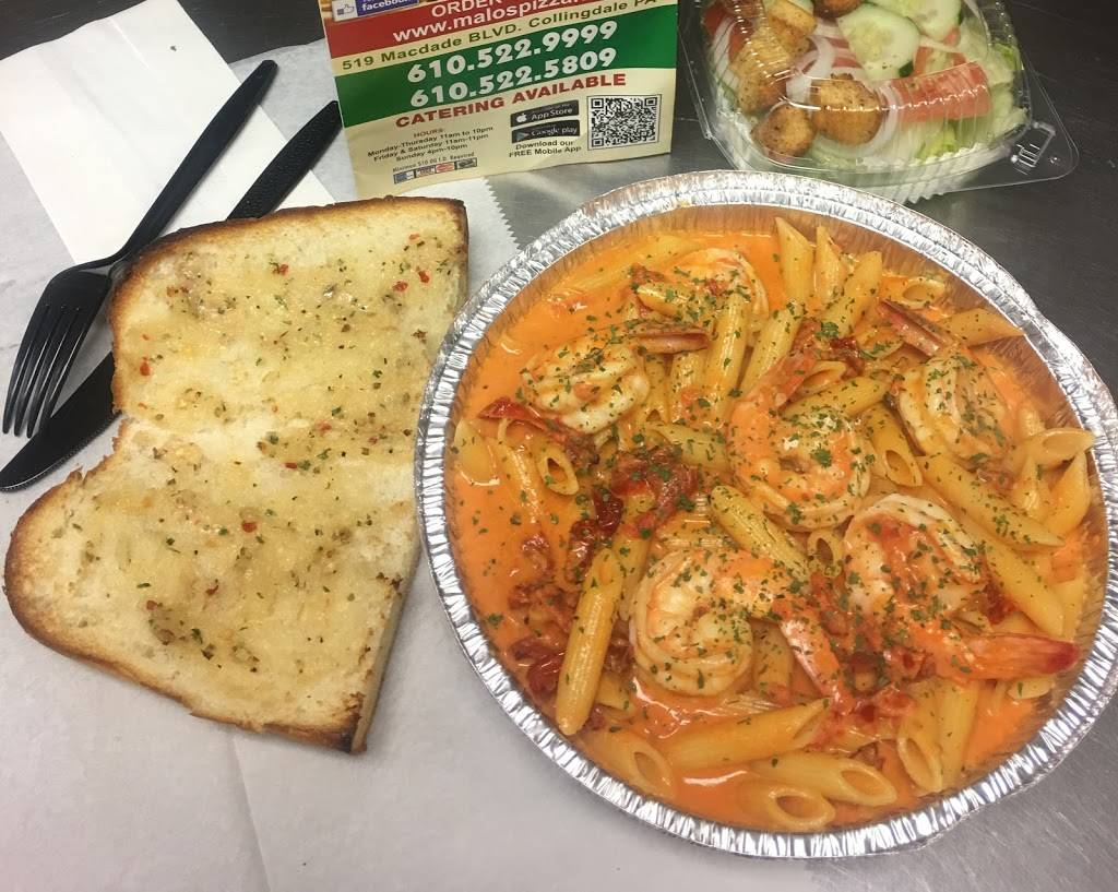 Malos Pizza & Pasta | meal delivery | 519 MacDade Blvd, Collingdale, PA 19023, USA | 6105229999 OR +1 610-522-9999
