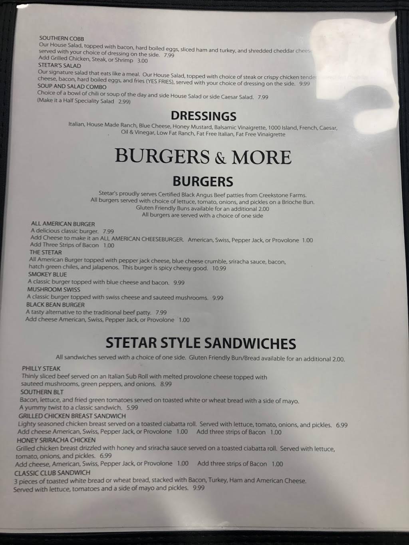 Stetars Restaurant | restaurant | 325 Geri St, Lawrenceburg, TN 38464, USA | 9312446659 OR +1 931-244-6659