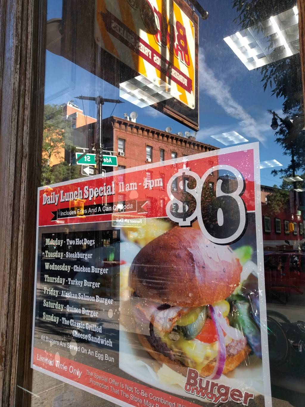 Burger UrWay | restaurant | 354 Myrtle Ave, Brooklyn, NY 11205, USA | 3479553529 OR +1 347-955-3529