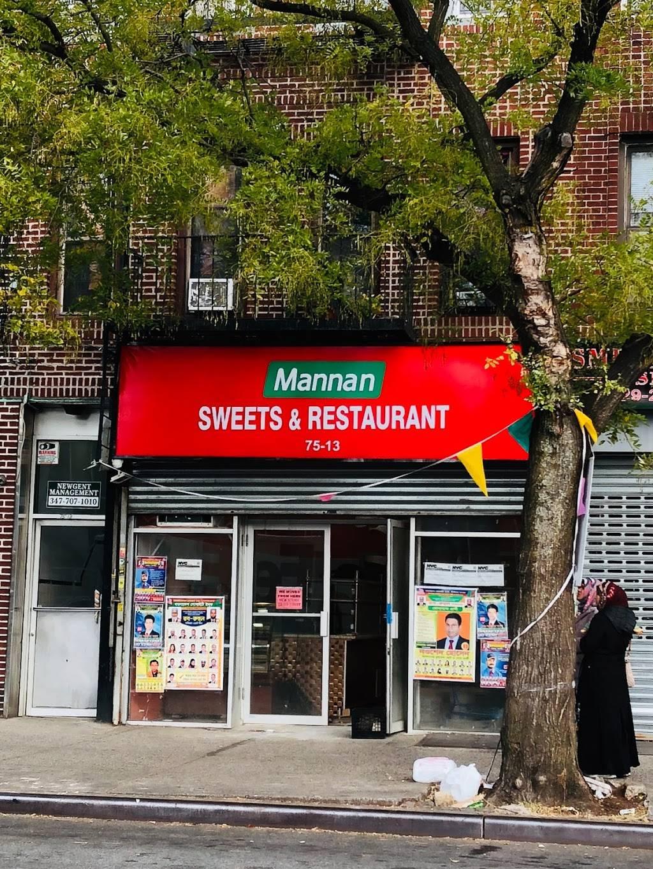 Mannan Sweets & Restaurant | restaurant | 75-13 101st Ave, Jamaica, NY 11416, USA