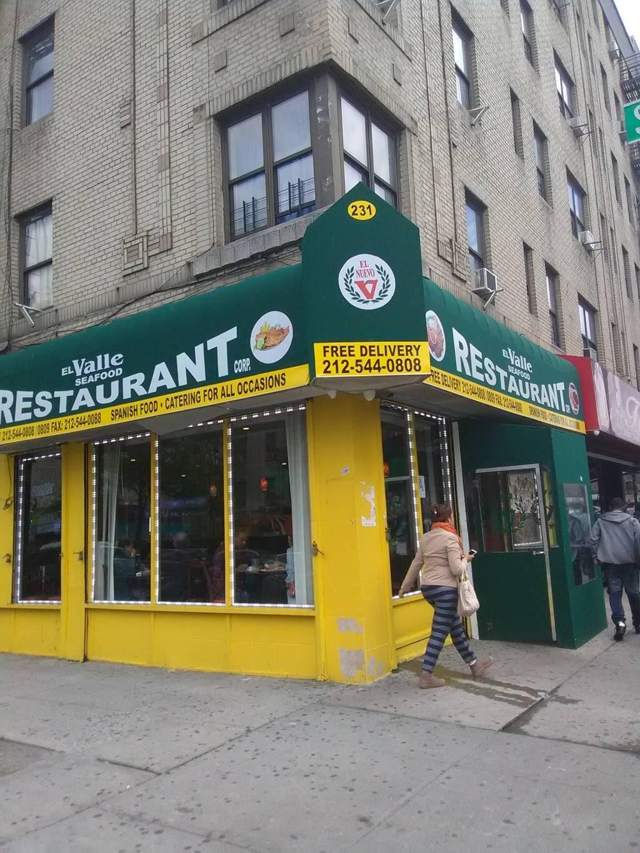 El Valle   restaurant   231 Sherman Ave, New York, NY 10034, USA   2125440808 OR +1 212-544-0808