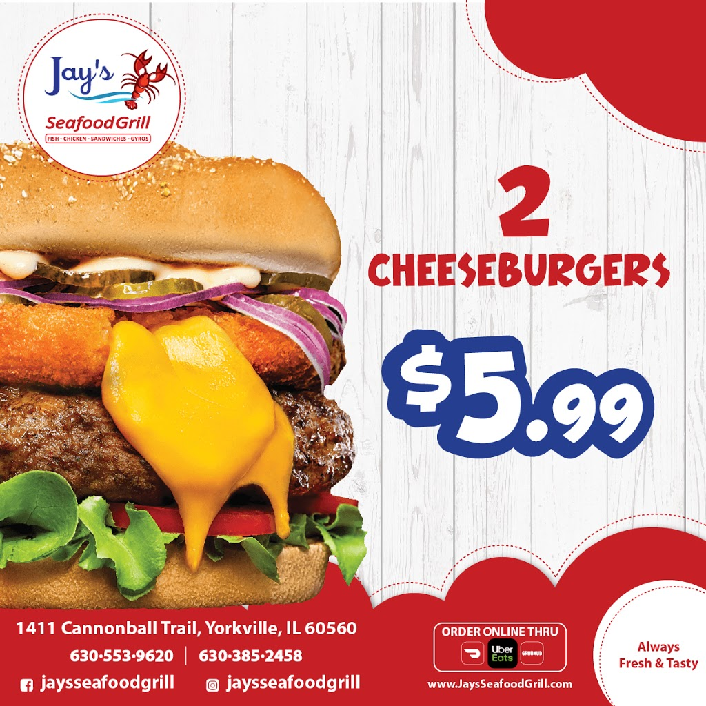 Jays Seafood Grill   restaurant   1411 Cannonball Trail, Yorkville, IL 60560, USA   6305539620 OR +1 630-553-9620