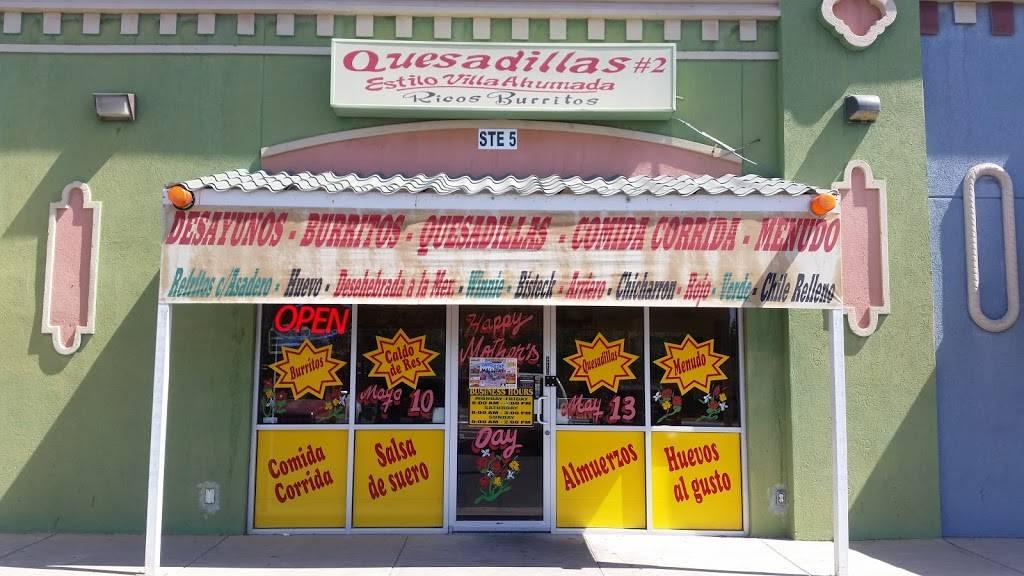 Quesadillas Estilo VillaAhumada | restaurant | 131 Horizon Blvd # 5, Socorro, TX 79927, USA | 9157900456 OR +1 915-790-0456