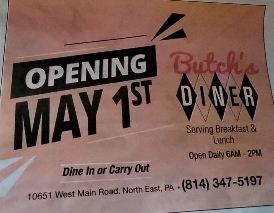 Butchs Diner | restaurant | 10651 W Main St, North East, PA 16428, USA