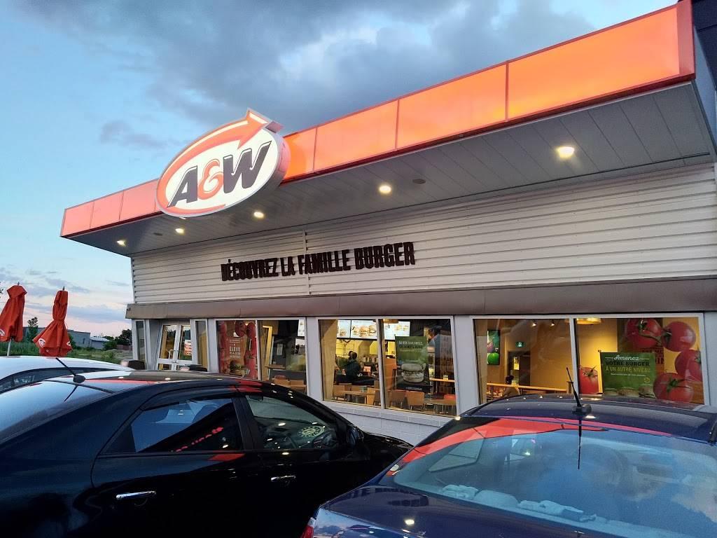 A&W Canada | restaurant | 7525 Boulevard Jean-XXIII, Trois-Rivières, QC G9A 5C9, Canada | 8198414040 OR +1 819-841-4040