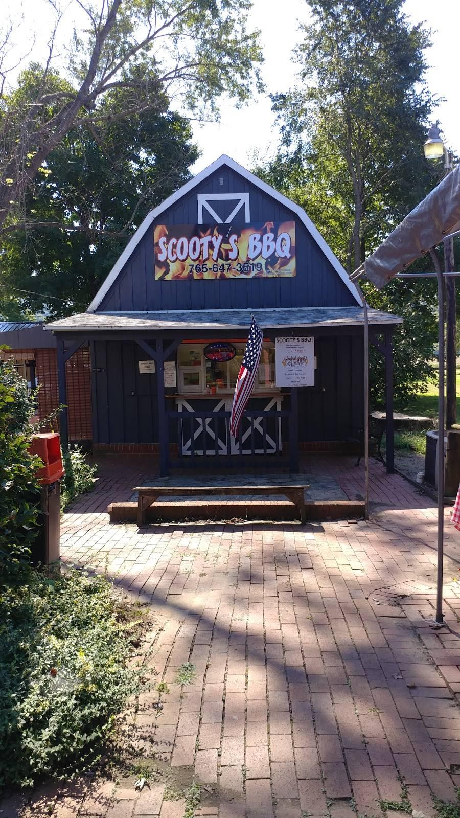 Scootys BBQ   restaurant   19034 S Main St, Metamora, IN 47030, USA