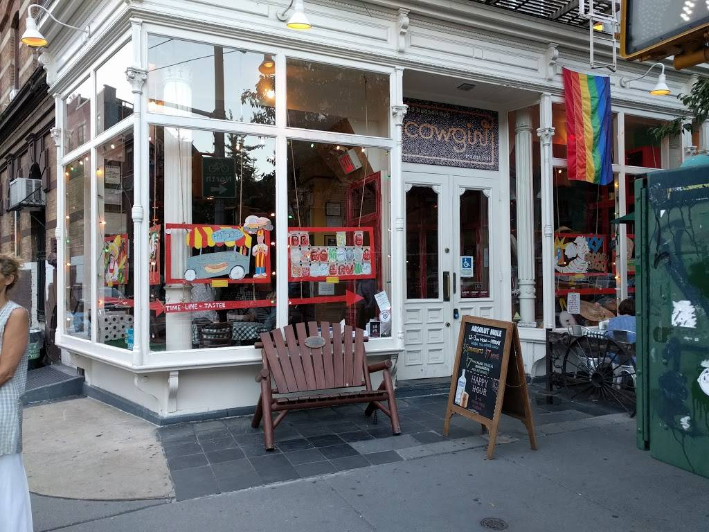Cowgirl | restaurant | 519 Hudson St, New York, NY 10014, USA | 2126331133 OR +1 212-633-1133