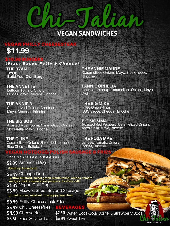 Chi-Talian Vegan Sandwiches | restaurant | 800 Forrest St NW, Atlanta, GA 30318, USA | 4045586214 OR +1 404-558-6214