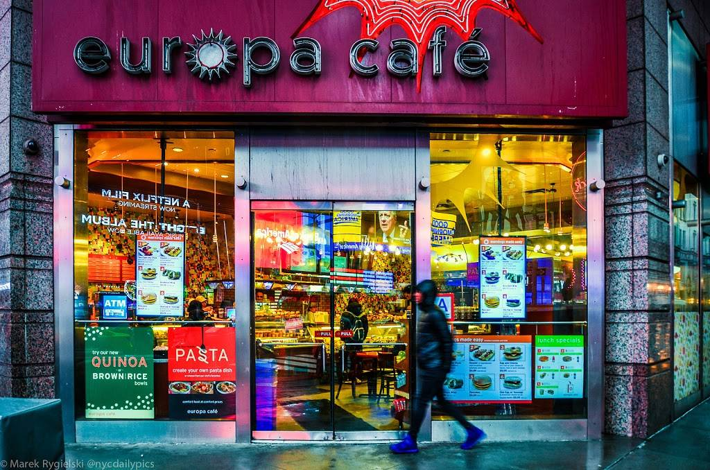Europa Cafe | cafe | 3 Times Sq # 1, New York, NY 10036, USA | 2128699830 OR +1 212-869-9830