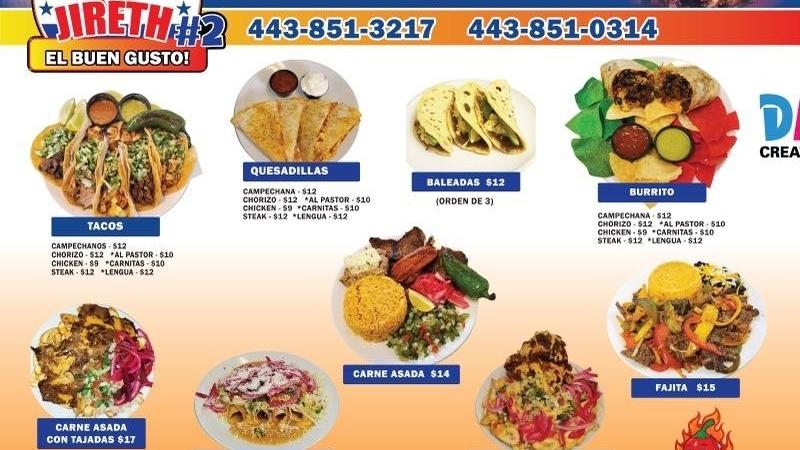JIRETH EL BUEN GUSTO 2   restaurant   6315 Washington Blvd, Elkridge, MD 21075, USA   4438510314 OR +1 443-851-0314