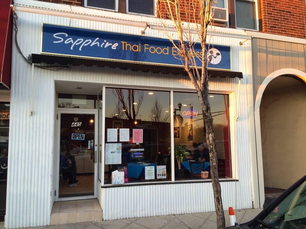 Sapphire Thai Food Express   restaurant   445 Cedar Ln, Teaneck, NJ 07666, USA   2019280770 OR +1 201-928-0770