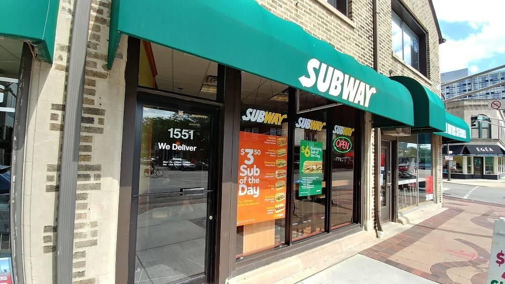 Subway Restaurants   restaurant   1551 Sherman Ave, Evanston, IL 60201, USA   8473282917 OR +1 847-328-2917