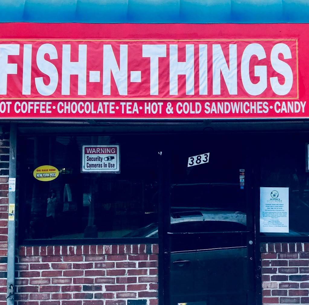 Fish N Things | restaurant | 383 Ocean Ave, Jersey City, NJ 07305, USA | 8623063735 OR +1 862-306-3735