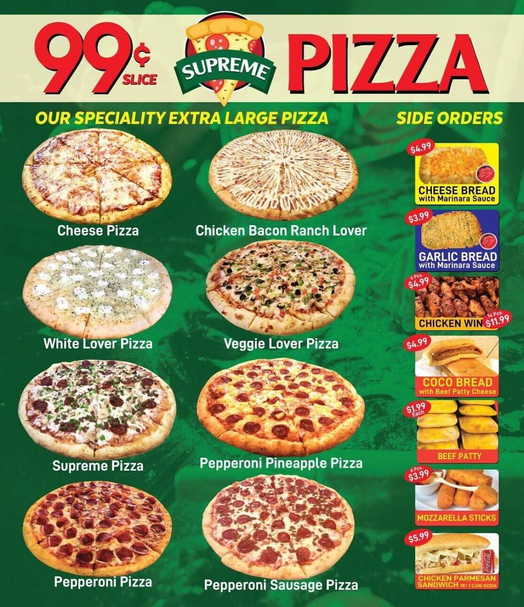 99 cent supreme pizza | restaurant | 1276 Fulton St, Brooklyn, NY 11216, USA