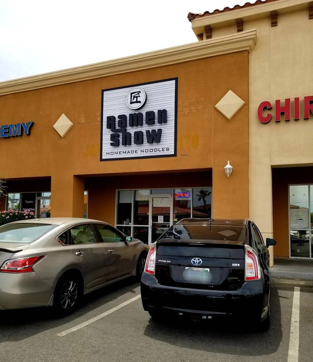 Ramen Show   restaurant   7835 S Rainbow Blvd Suite #7, Las Vegas, NV 89139, USA   7024626723 OR +1 702-462-6723