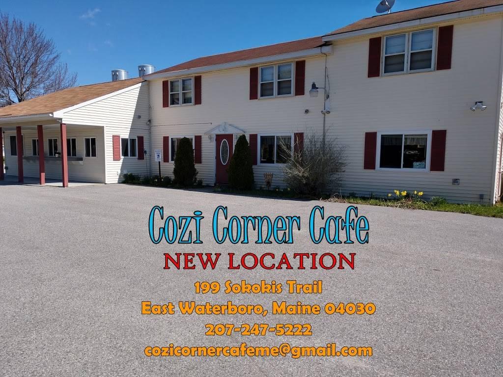 Cozi Corner Cafe   restaurant   199 Sokokis Trail, East Waterboro, ME 04030, USA   2072475222 OR +1 207-247-5222