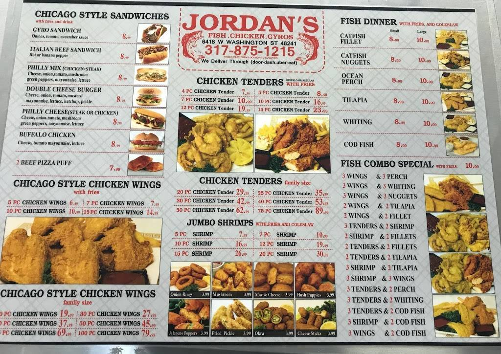 JORDANS FISH AND CHICKEN | restaurant | 6416 W Washington St, Indianapolis, IN 46241, USA | 3178751215 OR +1 317-875-1215